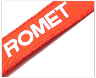 Projetar seu próprio animal bonito bordado chaveiro com tag do metal