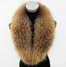 Winter wear trim natural raccoon fur collar