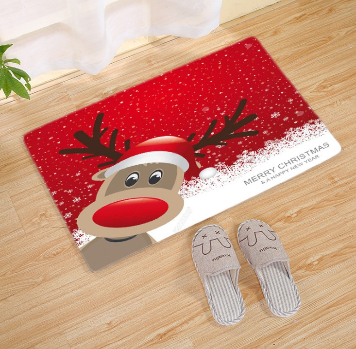 Hot sale Manufacturer 3D Printing Christmas Cotton Carpet