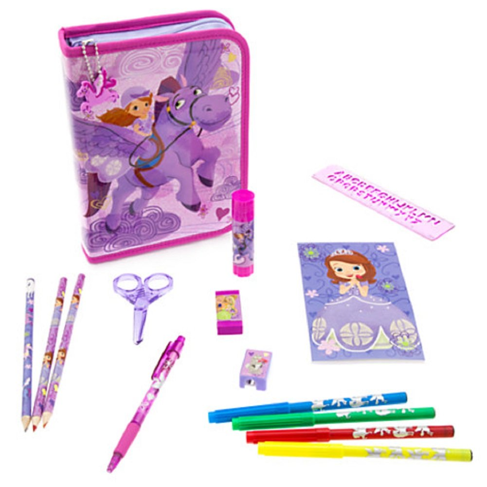 Disney Store Sofia the First Stationary Art Case Kit School Supplies