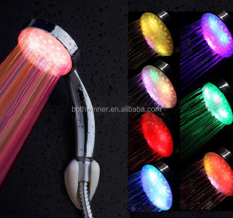 Led Shower,Tr001,Temperature Sensor 7 Color Changing Led Light ...
