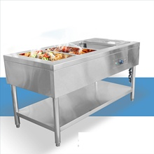 Binzhou professional kitchen equipment hot cooked food display counter