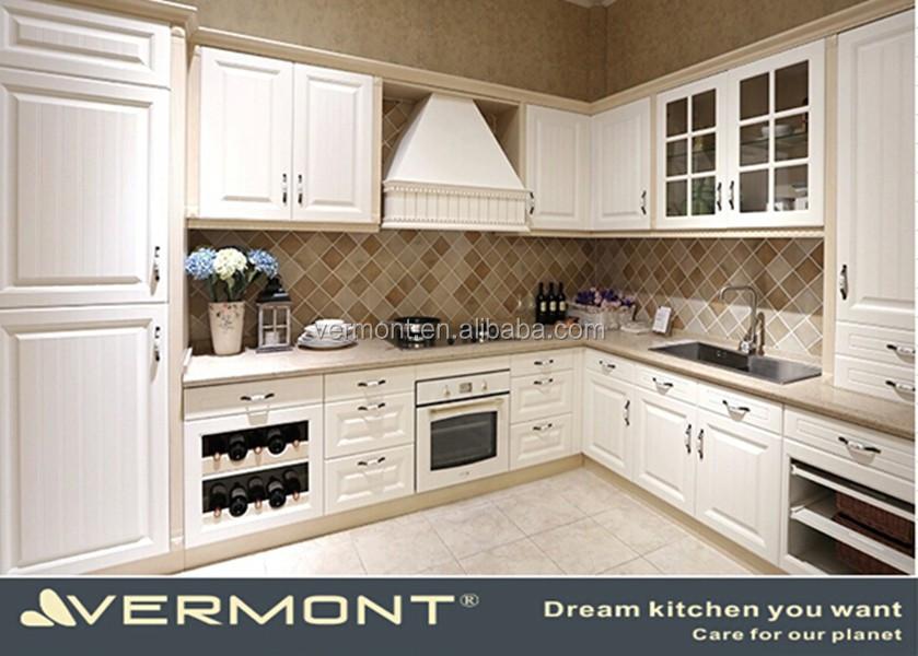 Masterpiece Modern Restaurant Solid Surface White Laminate Kitchen