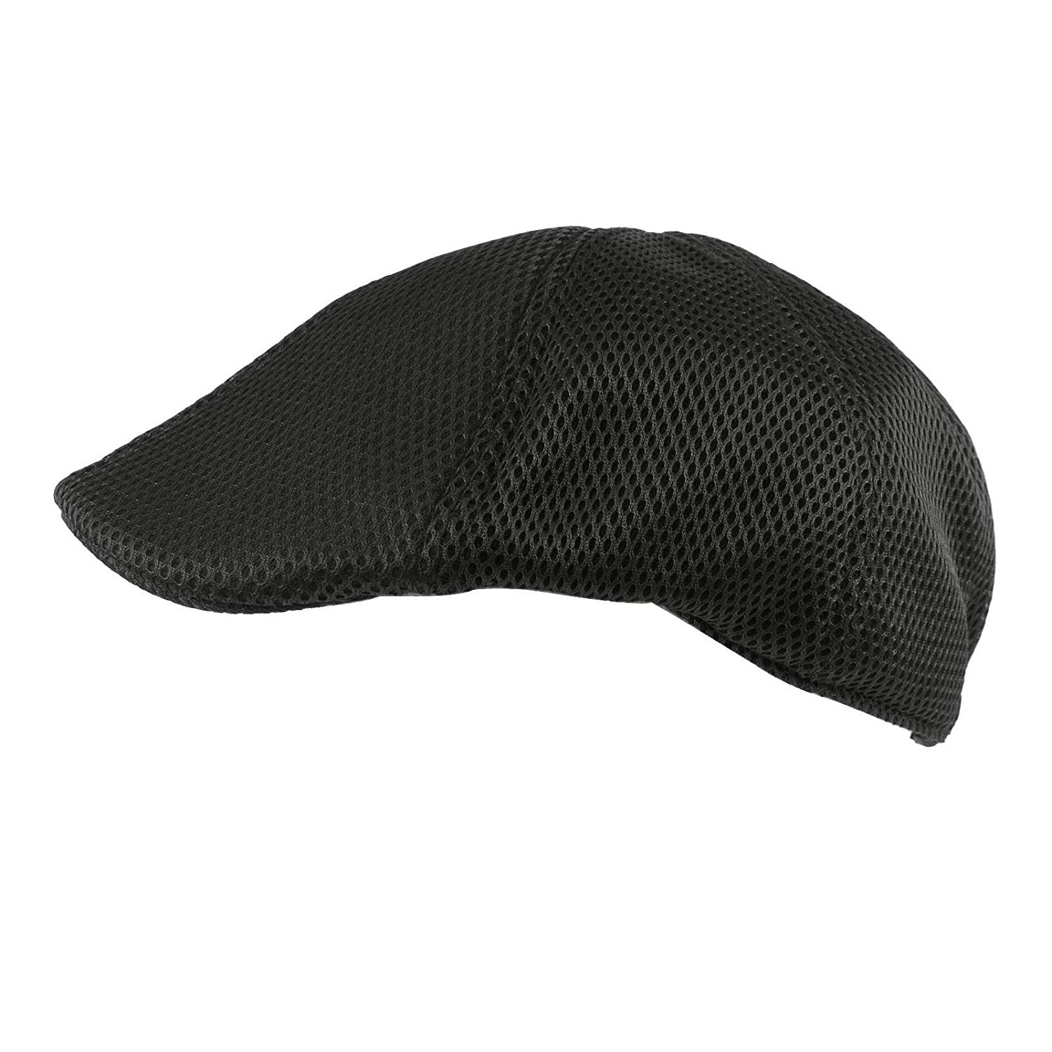 efc292d812e Get Quotations · SK Hat shop Mens Summer Mesh Camo duckbill Flat Golf IVY  Driver Cabbie Sun Cap Hat