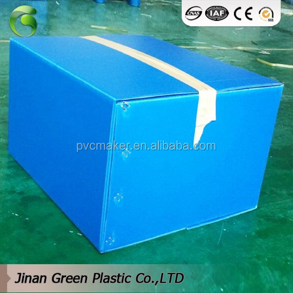 2018 Green brand Food Grade PP <strong>Plastic</strong> Corrugated Folding Correx Pizza Delivery Box