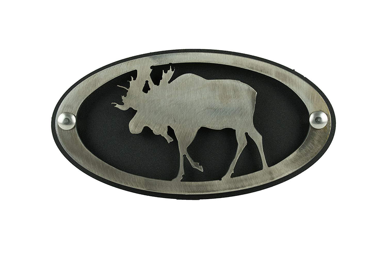 BLUE LUCA Moose Hitch Cover Brushed Finish | Moose Decor | Hitch Cover | Hitch Plug | Hitch Plug for Trucks | Hitch Cover Plug | Hitch Cover 2 Inch | Hitch Cover Moose