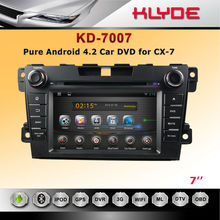 Hot sell In dash car dvd navi for player for mazda cx-7 with pure android system