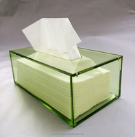 Acrylic transparent tissue box Acrylic storage box fashion creative business trendy Style napkin tray