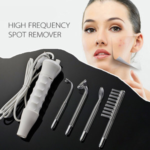 4 In 1 Portable High Frequency Electrodes Spot Acne Remover Face Hair Body Skin Care Spa Beauty Device Machine kit