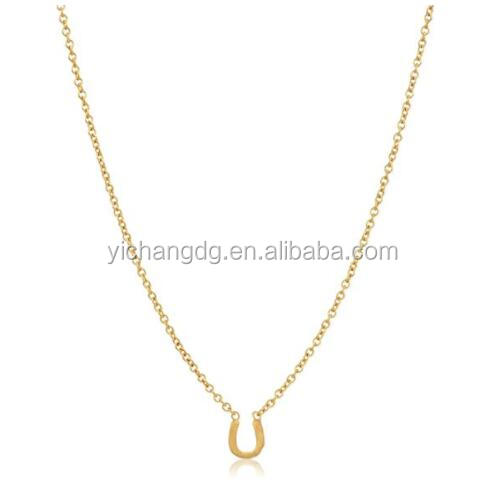 Mini Horseshoe Soldered Stainless Steel Chain Necklace, Fashion Horse Bit Jewelry