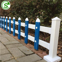 High quality fadeless white picket fence garden edging