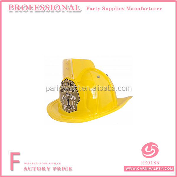 yellow firemans helmet