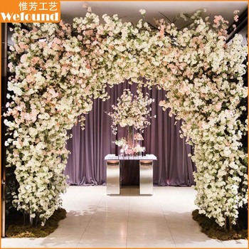 Wefound wedding decoration artificial cherry blossom flowers arch wefound wedding decoration artificial cherry blossom flowers arch for sales junglespirit Choice Image