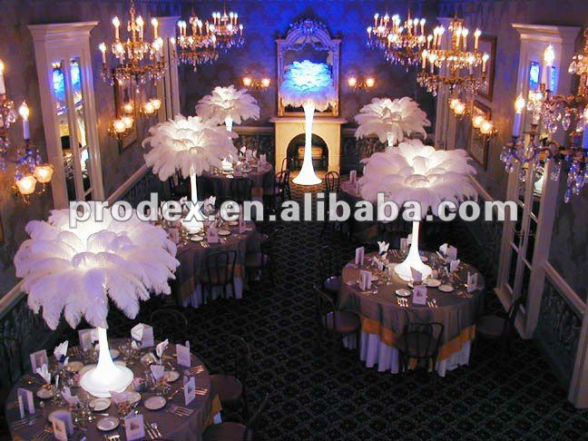 Party Decorations Of Ostrich Feather Centerpiece Buy Tiffany Party