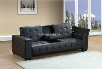 Classic Click Clack Sofa Bed With Cup Holder And Storage Buy Sofa