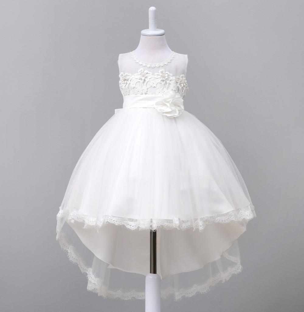 832066fc627ef Avrupa ve Amerikan tarzı çiçek kız gelinlik çocuk prenses parti firar elbise  Moda işlemeli dantel elbise