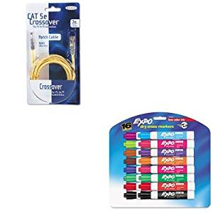 KITBLKA3X12607YLWMSAN81045 - Value Kit - Belkin CAT5e Crossover Patch Cable (BLKA3X12607YLWM) and Expo Low Odor Dry Erase Markers (SAN81045)