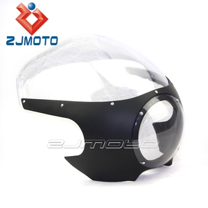 ZJMOTO MOTORCYCLE HEADLIGHT FAIRING CAFE RACER FIT FOR HARLEY CUSTOM CRUISER BOBBER CHOPPER DYNA TOURING