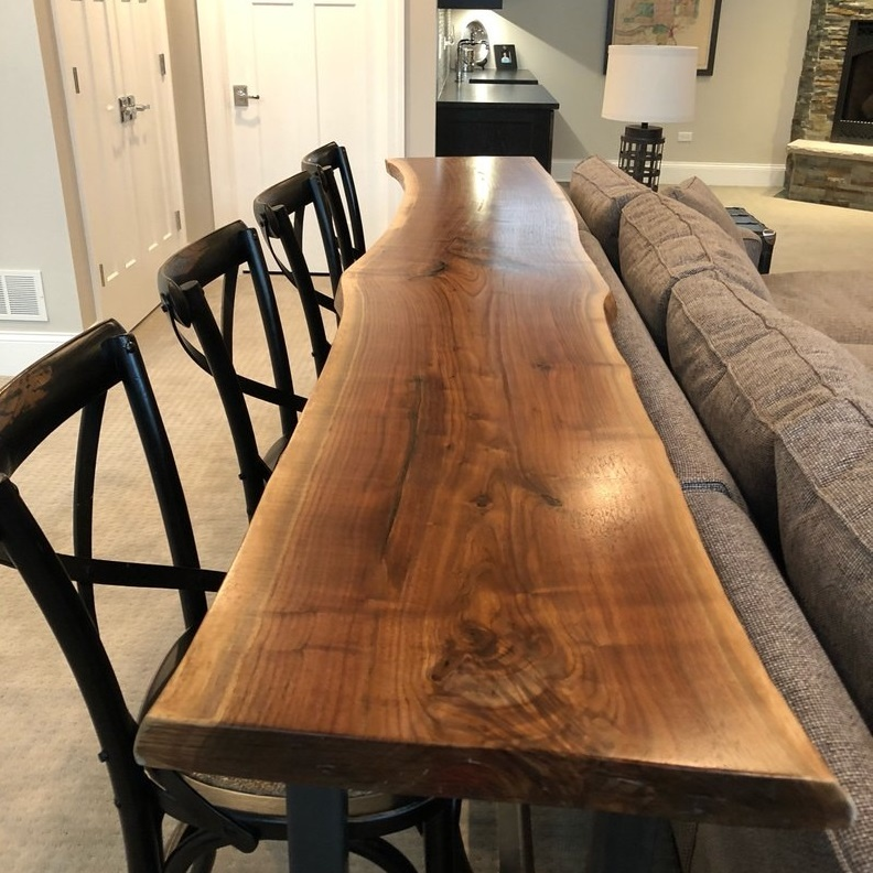 Beautiful Live Edge Wood Slab Dining Table Bar Sofa Home Product On Alibaba