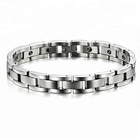 The Best Magnetic Custom Stainless Steel Jewelry Anti radiation Healing Body Bracelet