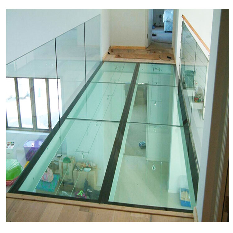 Laminated Tempered Glass Floor , Floors Made of Glass