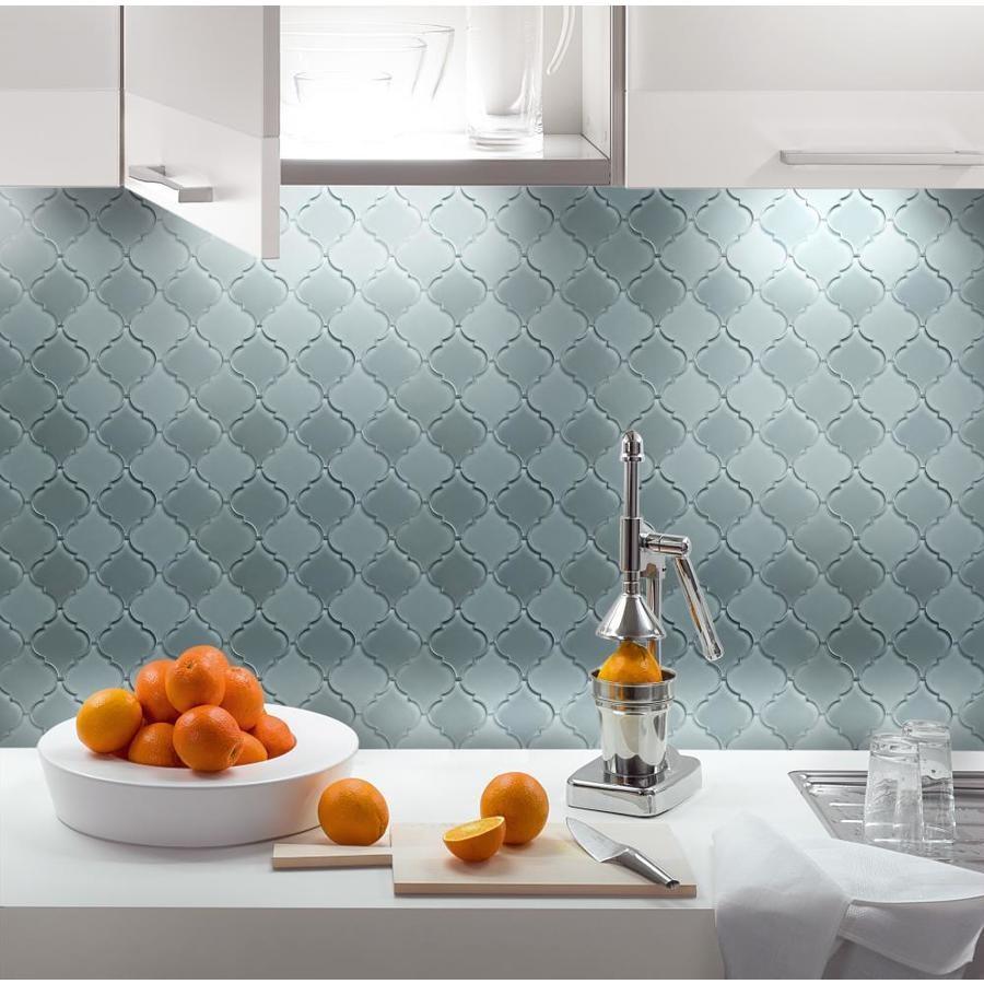 - Water Jet Backsplash Lantern Arabesque Glass Mosaic Tile - Buy