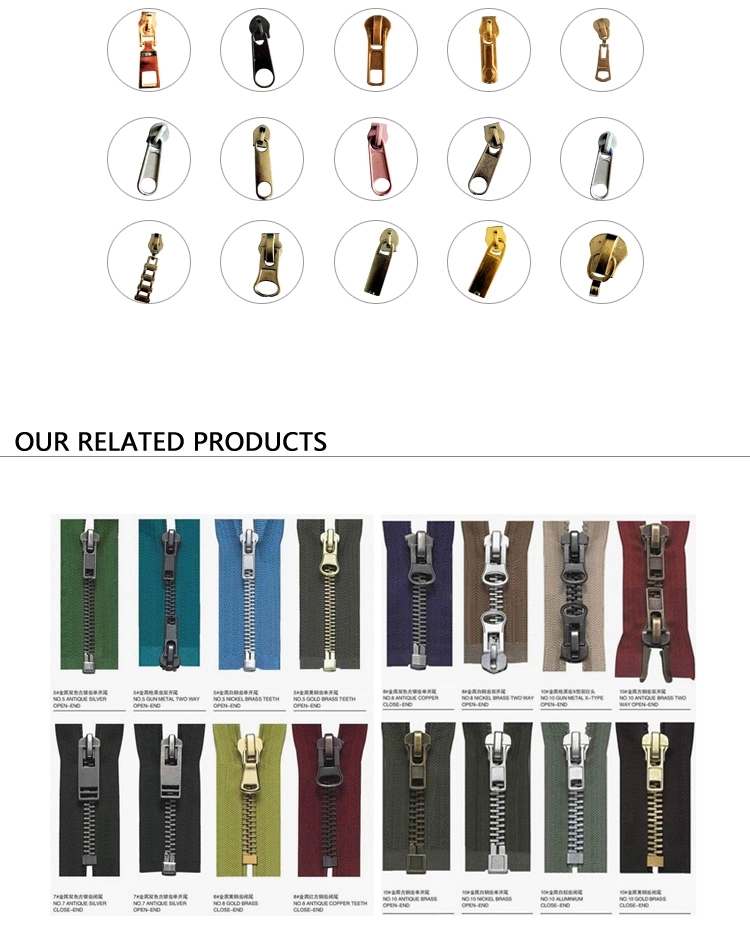 Wholesales Factory  Price 2 way Open End Double ended nylon zipper for Sales Garment