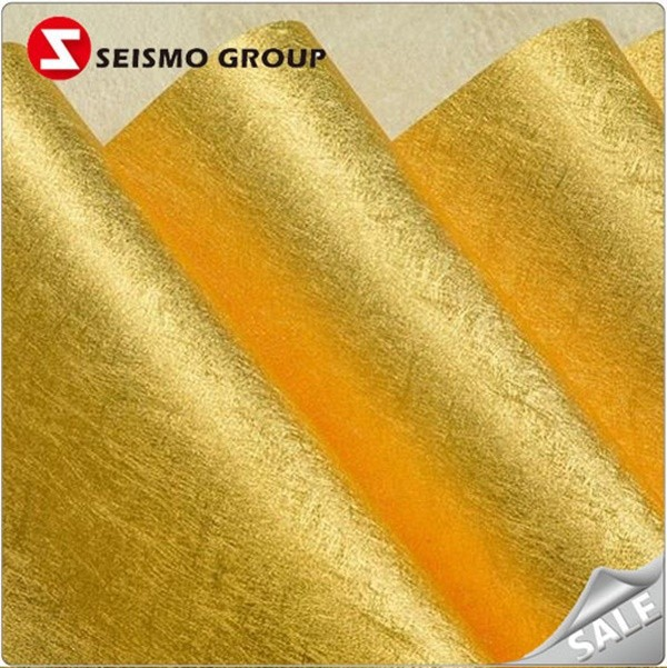 Golden & silver embossed foil carta patinata carta da imballaggio in rotolo