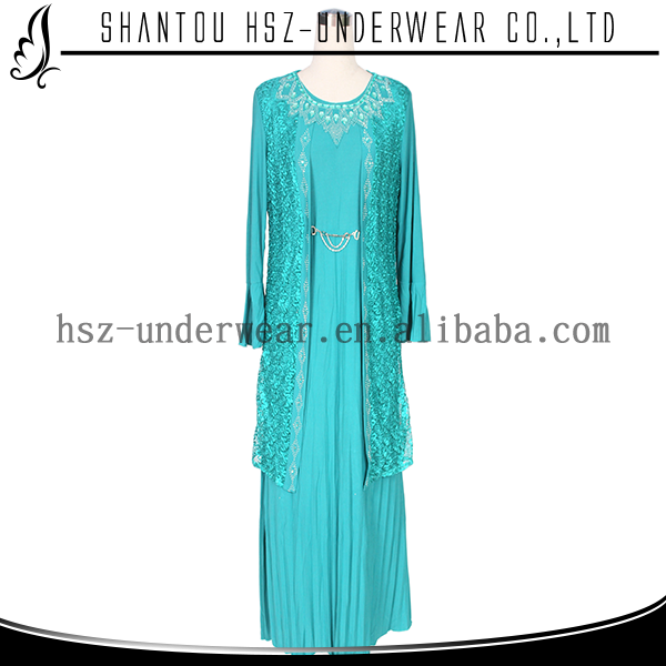 MD 668# New fashion beads stone islamic garments for maxi dress muslim plus size kaftan maxi dress long skirt for muslim women фото