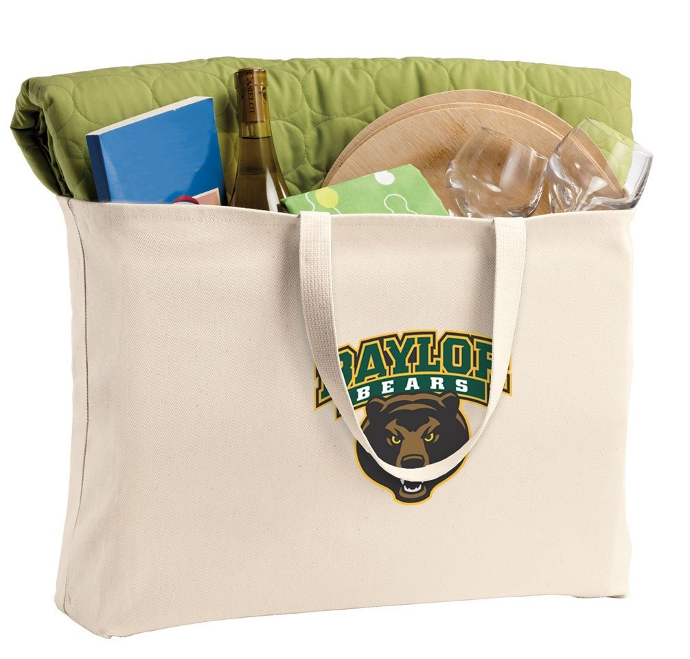 JUMBO Baylor University Tote Bag or Large Canvas Baylor Shopping Bag