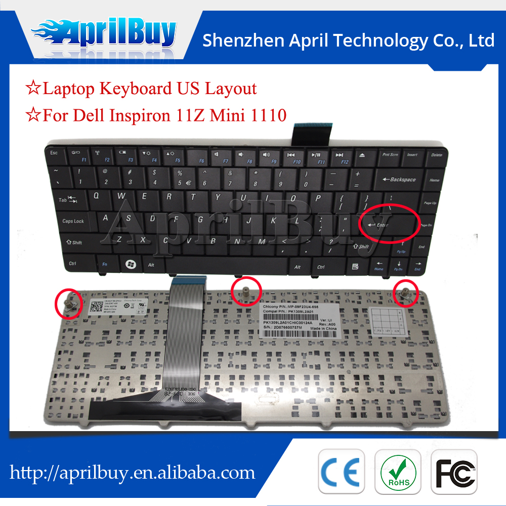 For Dell laptop keyboard Inspiron 11Z Mini 1110 US layout