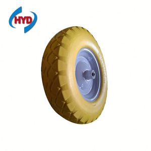 pu foam small trolley wheel solid rubber tires 4.80/4.00-8