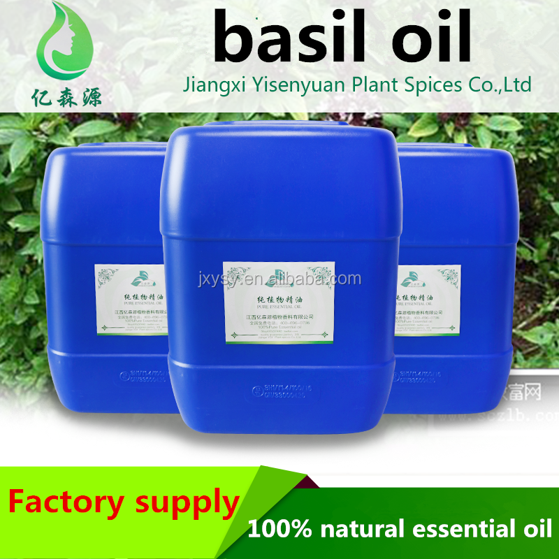 Cosmetic Grade Sweet Basil Oil Ocimum Basilicum Oil Clove Basil Oil Used For Inhalation Bath And Massage