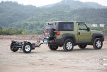 Folding style motorcycle trailer