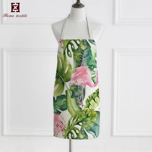 Best selling cheap wholesale printed heat resistance apron woman long waterproof cotton korean apron