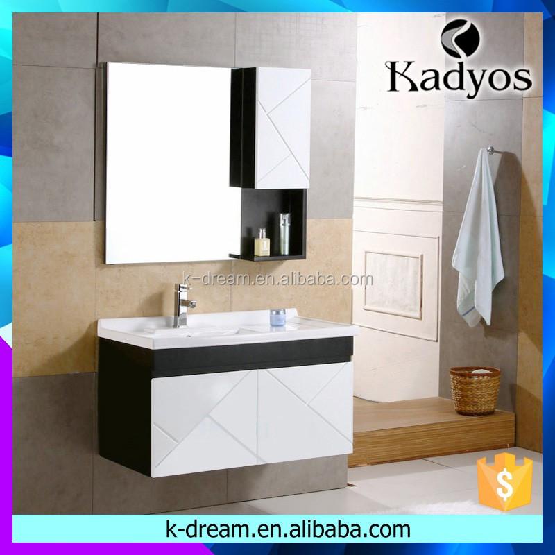 Moderne Hängende Holz Badezimmerschrank/waschbecken Spiegelschrank ...