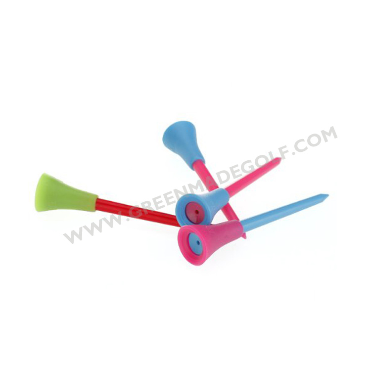 2018 Hot sale special rubber top plastic golf tees