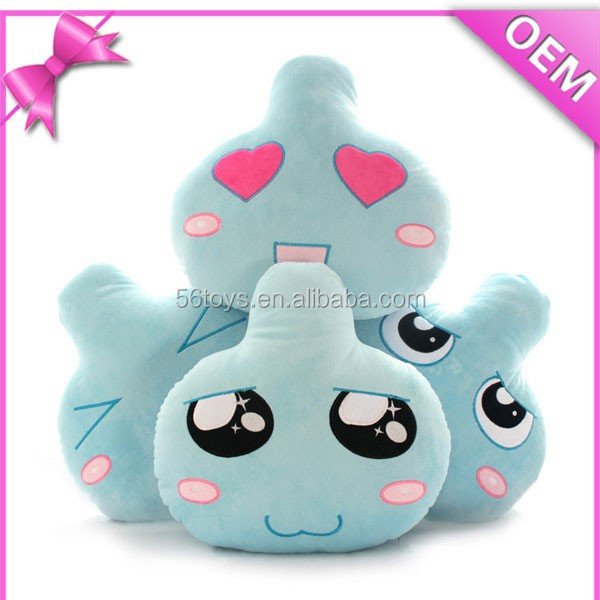 Cute emoji emoticon plush bun toy,cotton food plush toy