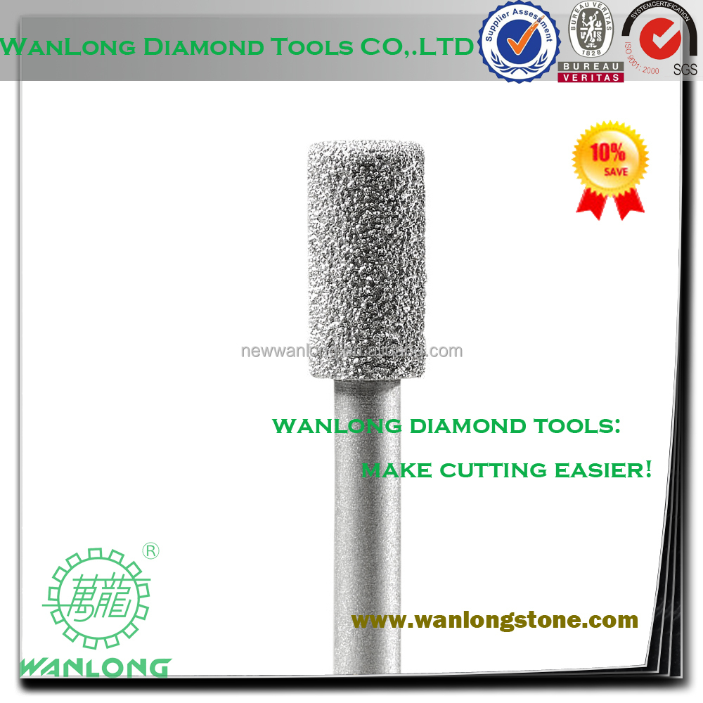 vacuum brazed fast speed diamond engraving bit all kind types for stone edge grinding