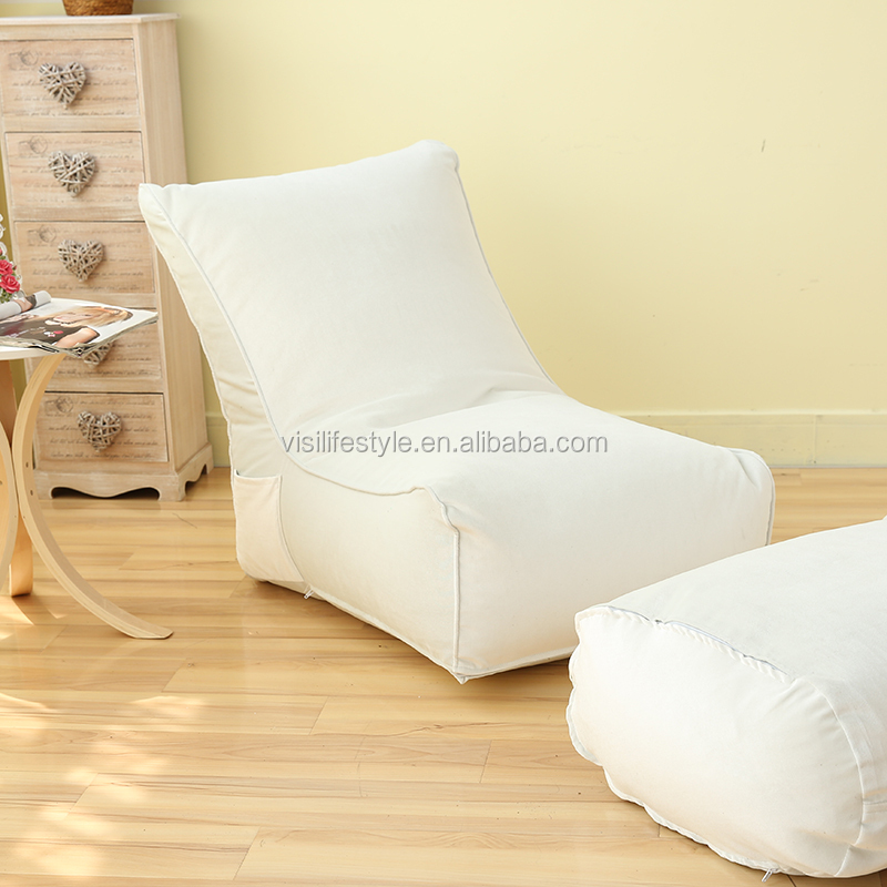 Indoor bean bag muebles chaise lounge silla con otomana, sofá ...