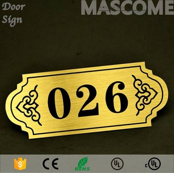 customized hotel door number plate stainless sheet room signs buy