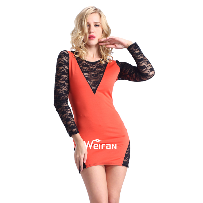 OEM&ODM Supply Type Lace Bodycon Sexy Short Mature Mini Ladies Modern Dresses