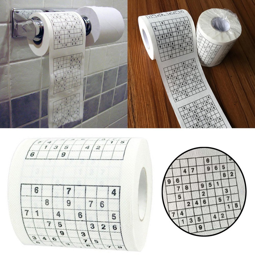 Funny Gag Gift Joke 1 Roll Sudoku Puzzle Game Roll Novelty Toilet Paper