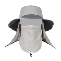 Custom Wholesale Outdoor fishing hiking neck protection bucket hat with face cover