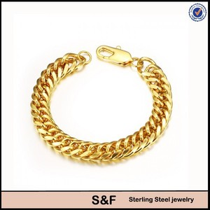 Jaipur Gold Jewellery Designs Plated Gold Stainless Steel Bracelet