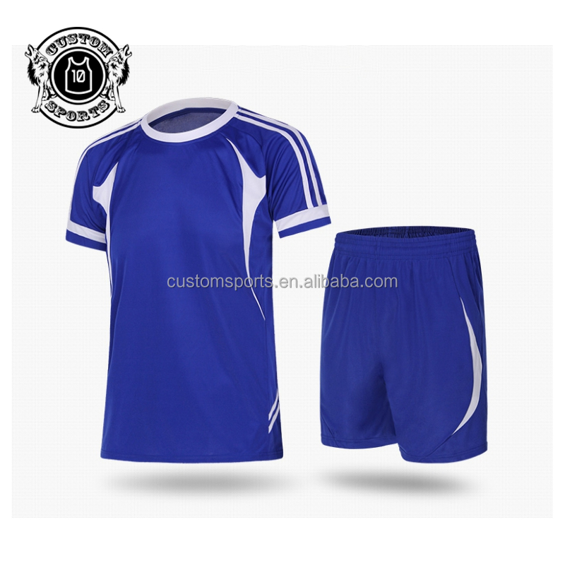 Light Weight Breathable Football Jersey Soccer Team Uniform Sets With Custom Logo