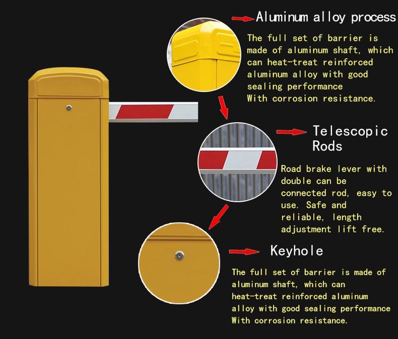 Aluminum alloy parking gate barrier retractable barrier fence gate crowd control barrier QG-10960