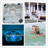 Pop-up lcd tv outdoor hot tub spa jacuzzy