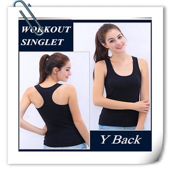 e86fdb688 GPS58 Fashion Cotton Spandex Yoga Singlet Slim Fit Gym Tank Top Workout  Singlets