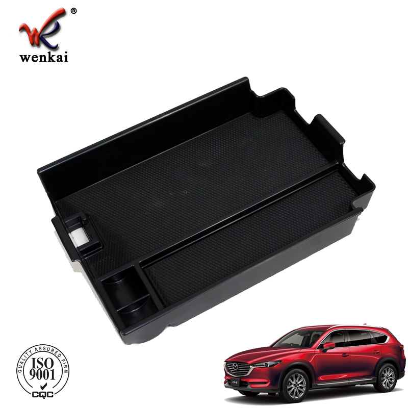 <strong>Car</strong> <strong>Center</strong> <strong>Console</strong> Armrest Box Glove Box Secondary Storage <strong>Console</strong> Organizer Insert Tray For Mazda CX-8 KG 2018 2019 Accessories